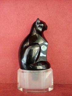 *Cat perfume bottle JOVOY Parfumeur Parisien depuis 1923