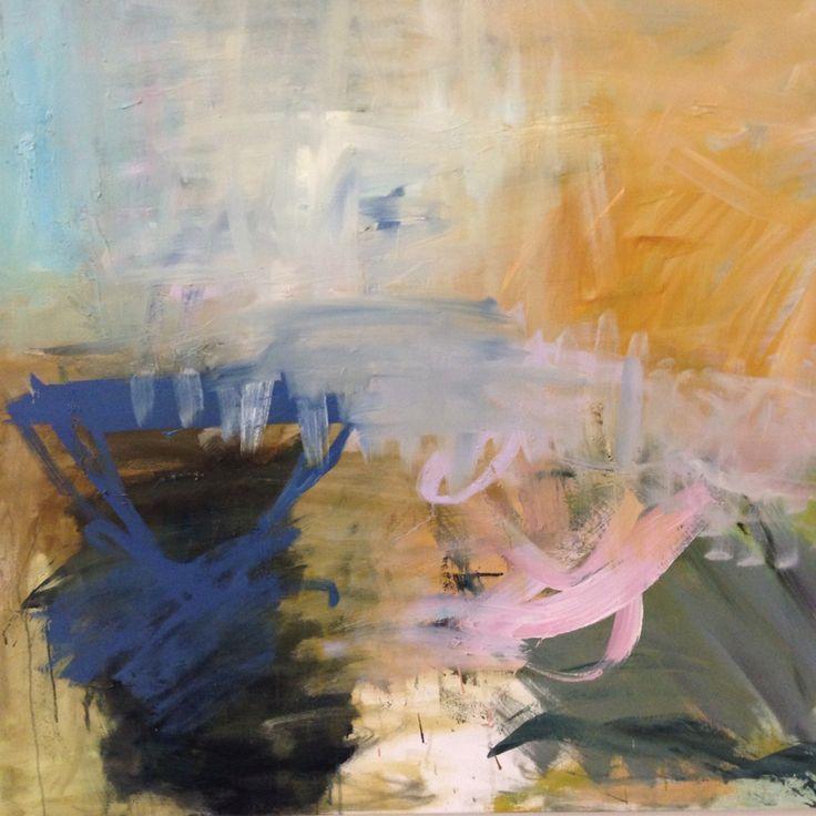 Marianne Hansen, olie på lærred, 100x100 cm