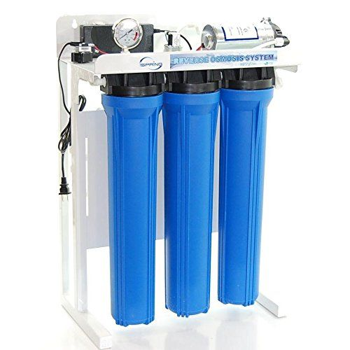 """cool iSpring 300GPD Commercial Reverse Osmosis Water Filter with 20"""" FILTERS and Booster Pump, #RCB3P-NT, Compare to CRYSTAL QUEST® CQE-CO-02022 - Tank not included"""