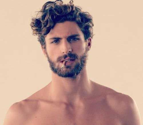 Curly hairstyles for men!                                                                                                                                                                                 More