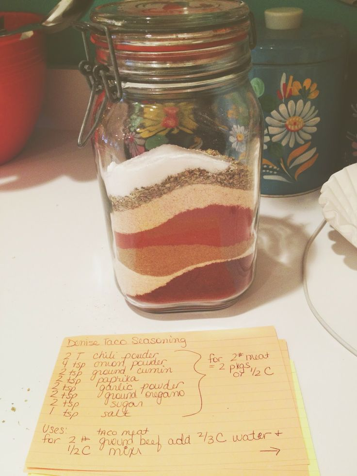 Taco seasoning | Things I Want in my Mouth | Pinterest