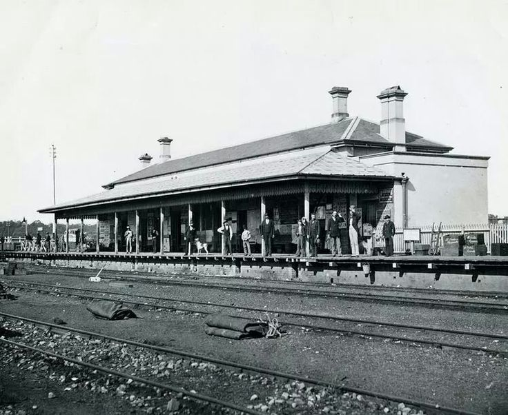 Parramatta Station in 1870.Photo from Blue Mountains City Library.A♥W History Parramatta NSW