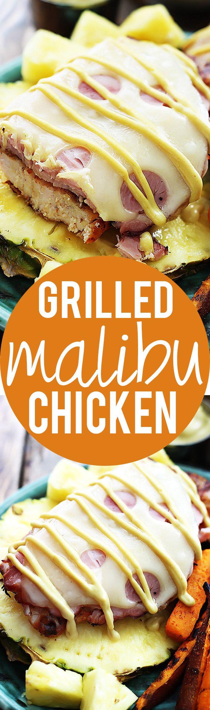 Grilled Malibu Chicken | Creme de la Crumb