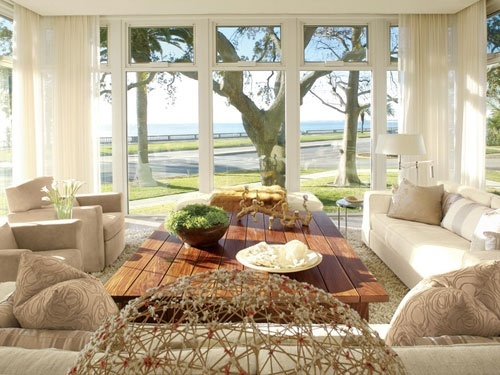 If I had a view like this, I would choose these romantic furnitures... but until I dont have, I prefer modern...