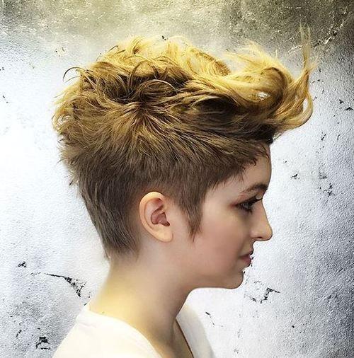Wavy Two Tone Pixie Mohawk New Haircut Pinterest
