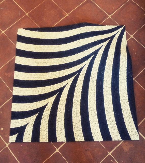 carpet mosaic OPTICAL II. flexible rug by LaTenagliaImpazzita