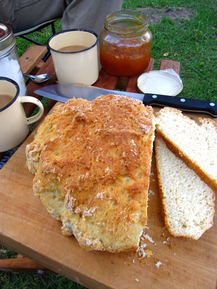 Potbread for breakfast (bake the night before in the cooling coals)