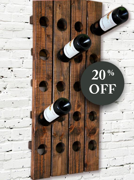 Modern Rustic Wine Rack Riddling Style by RchristopherDesigns