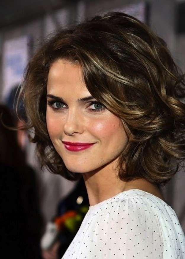 cortes de pelo rizado corto para mujeres fotos de los peinados media melena