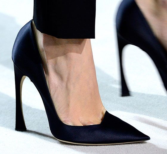Dior shoes, proving that small tweaks to proportion can make the most interesting design.