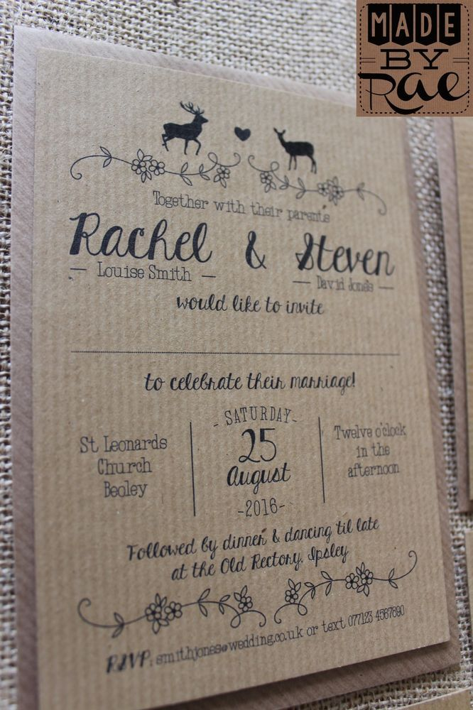 30 best Rustic Wedding Invitations images on Pinterest | Weddings ...