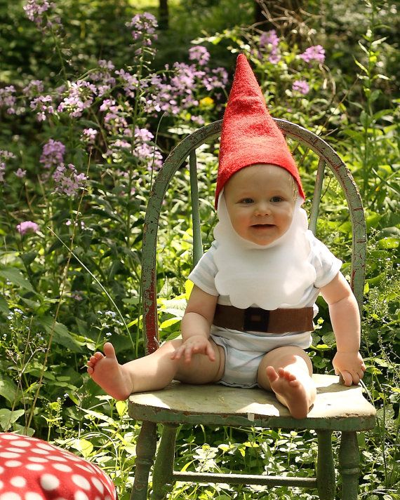 Gnome hat and beard toddler/child costume.