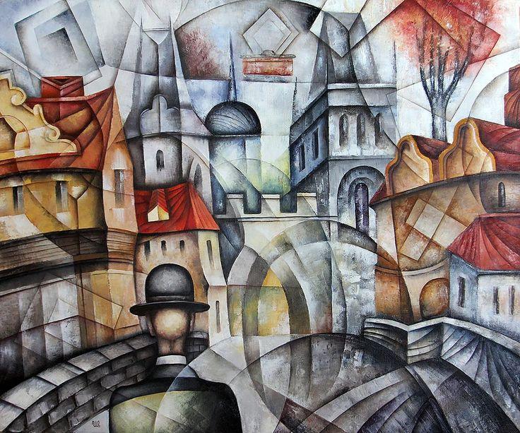 Old Gate by Eugene Ivanov.  #eugeneivanov #cubistic #urban #landscape #cityscape #cubism #@eugene_1_ivanov