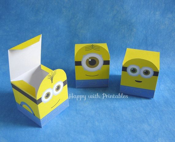 Printable Minion party favors Minion Bob by HappywithPrintables