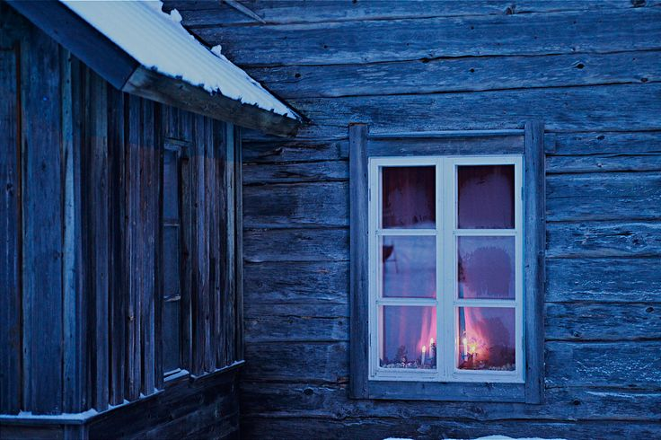 Traditional timber house, Levi, Finland
