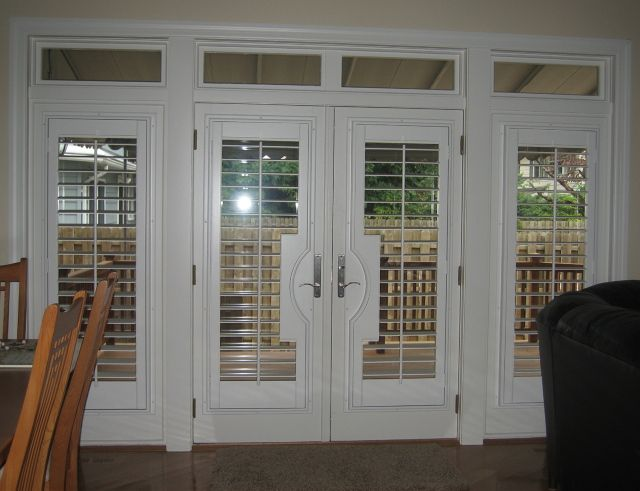 Custom Plantation Shutters On French Doors Dream Home In