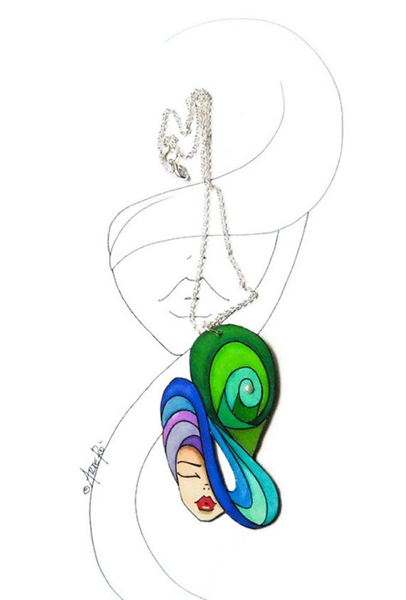 Colorful Jewelry  Colorful Necklace Paper Jewelry  by TheRollyS
