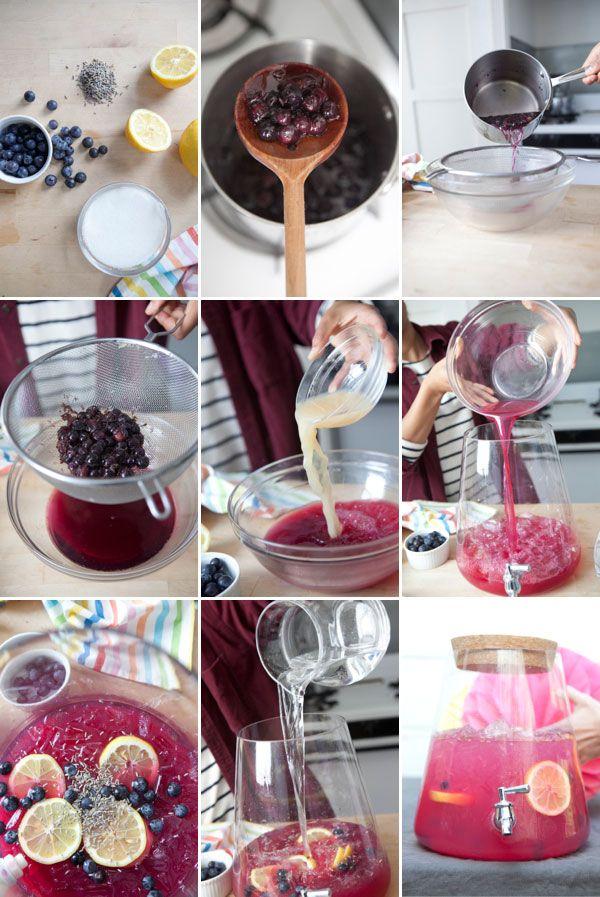 Blueberry Lavender Lemonade recipe - Infused Lemonade: Three Ways | Oh Happy Day!
