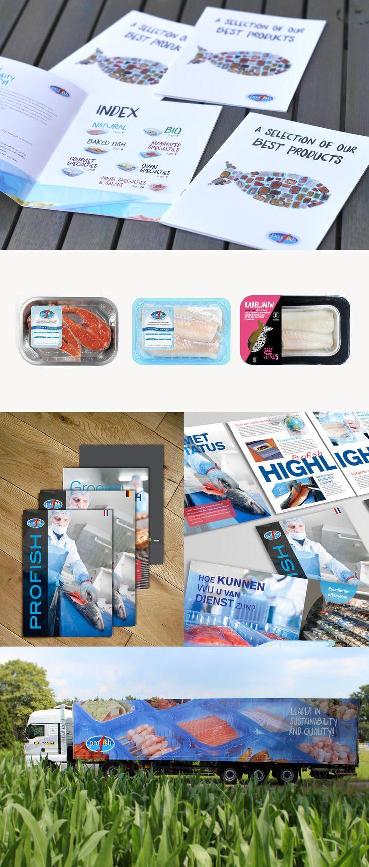 Profish alimentaria es una empresa familiar con más de veinte años de experiencia en el suministro de pescado pre-envasado para el comercio al por menor y al por mayor en Holanda y el resto del mundo. Diseñamos una nueva identidad, más moderna y minimalista, orientándonos al producto en si: es pescado. Dentro de la nueva imagen, diseñamos toda la linea de packaging y etiquetas, catálogos, banners y vehículos de transporte.
