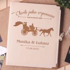 Personalizowany album na zdjęcia KARETA idealny na urodziny