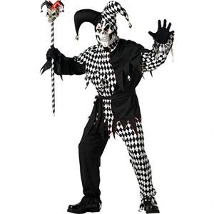 Black Evil Jester Costume