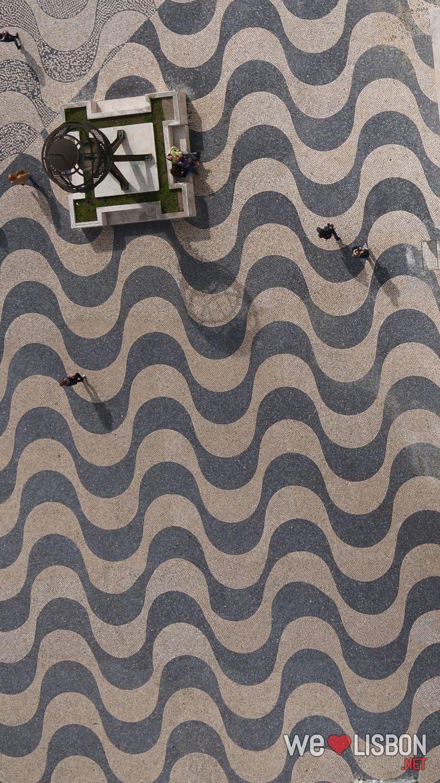 Portuguese cobblestones at Belem district in Lisbon - Lisbon's cobblestone…