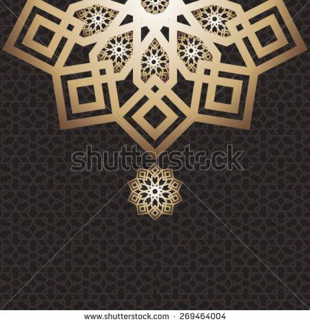 eid mubarak card arabic design dark buy this stock vector on shutterstock find other images
