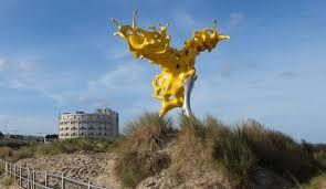 Afbeeldingsresultaat voor kunstwerk westende strand