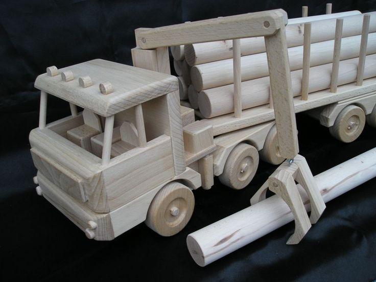 Holz-Transporter LKW 60 cm, special Holzspielzeug 129.00 € - Holz natürlichen Spielzeug, Autos und Flugzeugmodelle, Engel, Schmuckschatullen