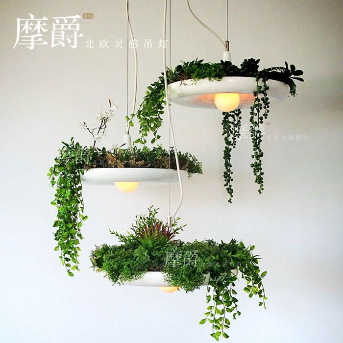 Mount Jazz IKEA pastoral Hanging Gardens of Babylon pots potted plants Nordic babylon creative chandelier-in Chandeliers from Lights & Lighting on Aliexpress.com | Alibaba Group