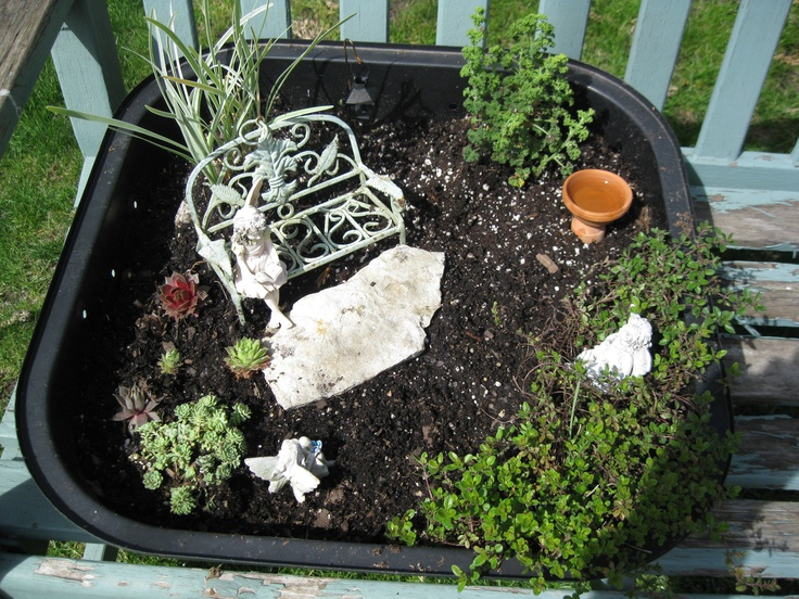 Best Fairy Garden Containers Images On Pinterest Fairies - Compact grill containers