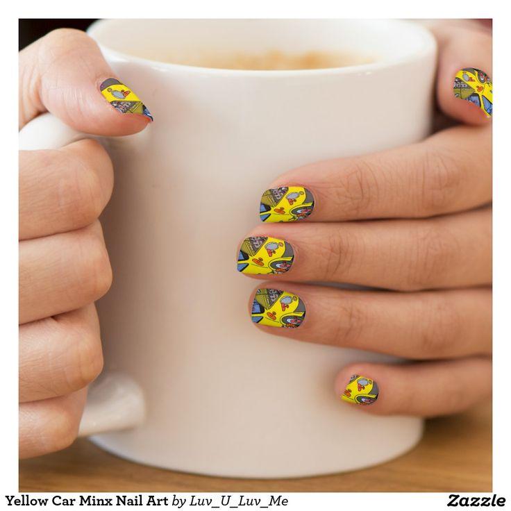 Yellow Car Minx Nail Art Minx® Nail Art