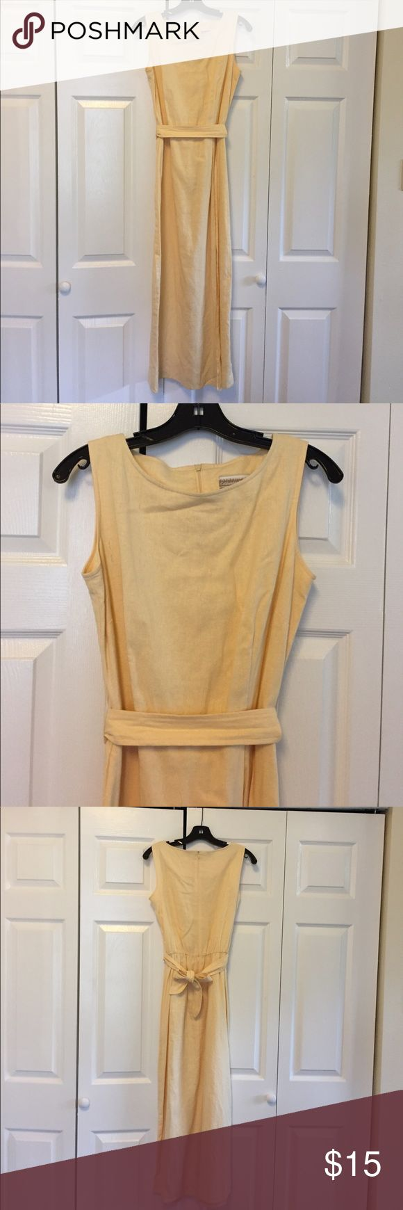Women's Coldwater Creek Ankle Length Dress Women's Size 6 Coldwater Creek Ankle Length yellow dress with split skirt Coldwater Creek Dresses Maxi
