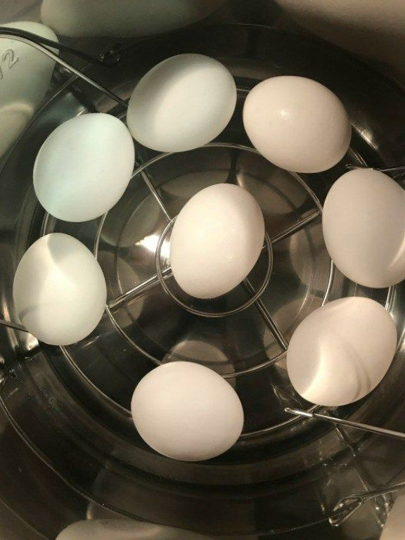 Instructions for how to hard boil eggs in an instant pot and an air fryer. In 15 minutes you can cook perfect hard-boiled eggs that are super easy to peel.
