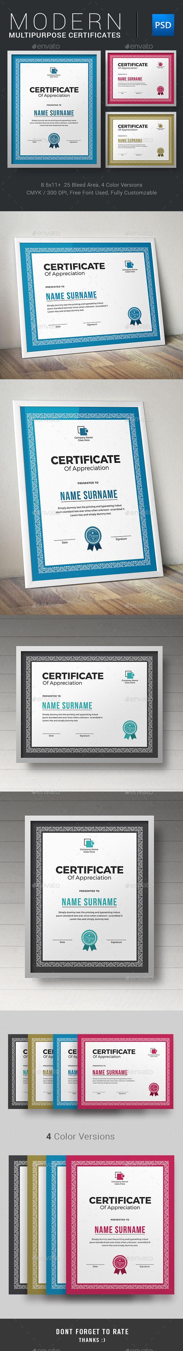 Certificate Template PSD