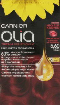 Garnier, Olia, trwała koloryzacja bez amoniaku, głęboki karmin 5.60, 1 szt., nr kat. 230489 - Internetowa drogeria Rossmann - Zakupy online