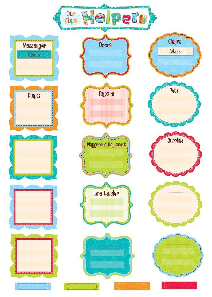 Our Class Helpers Classroom Display Set: Amazon.co.uk: Office Products