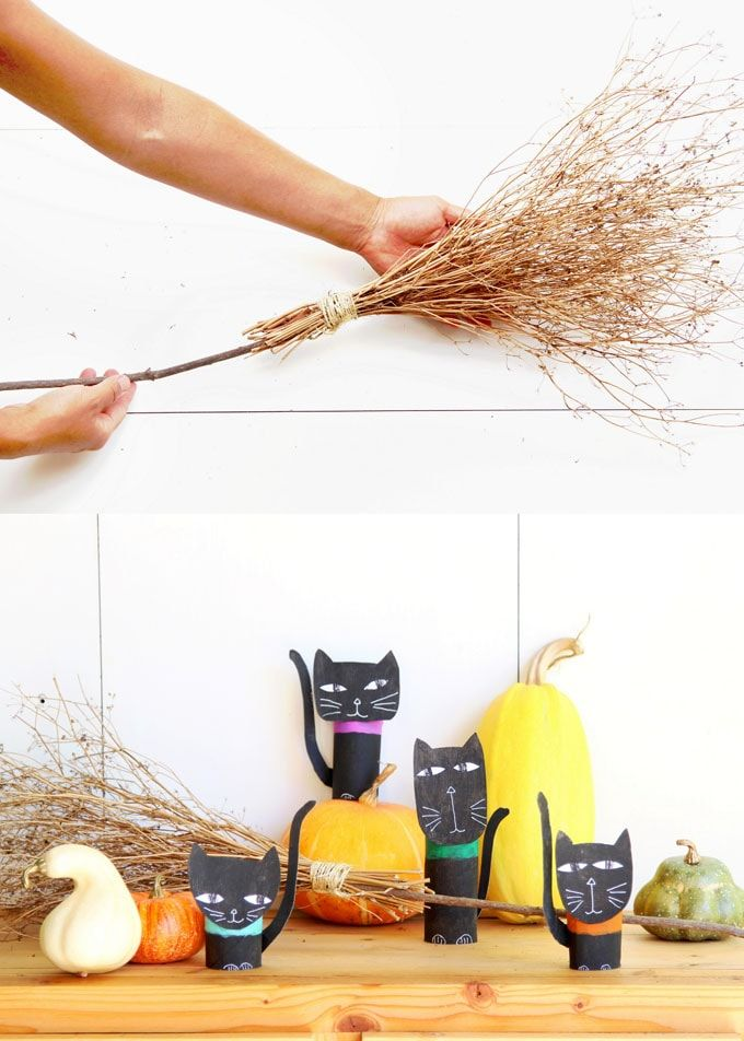 Magical  Free DIY Halloween Witches Broom {2 Ways!} new DIY home