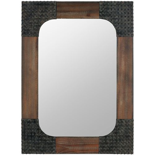 Harold Dark Brown Mirror