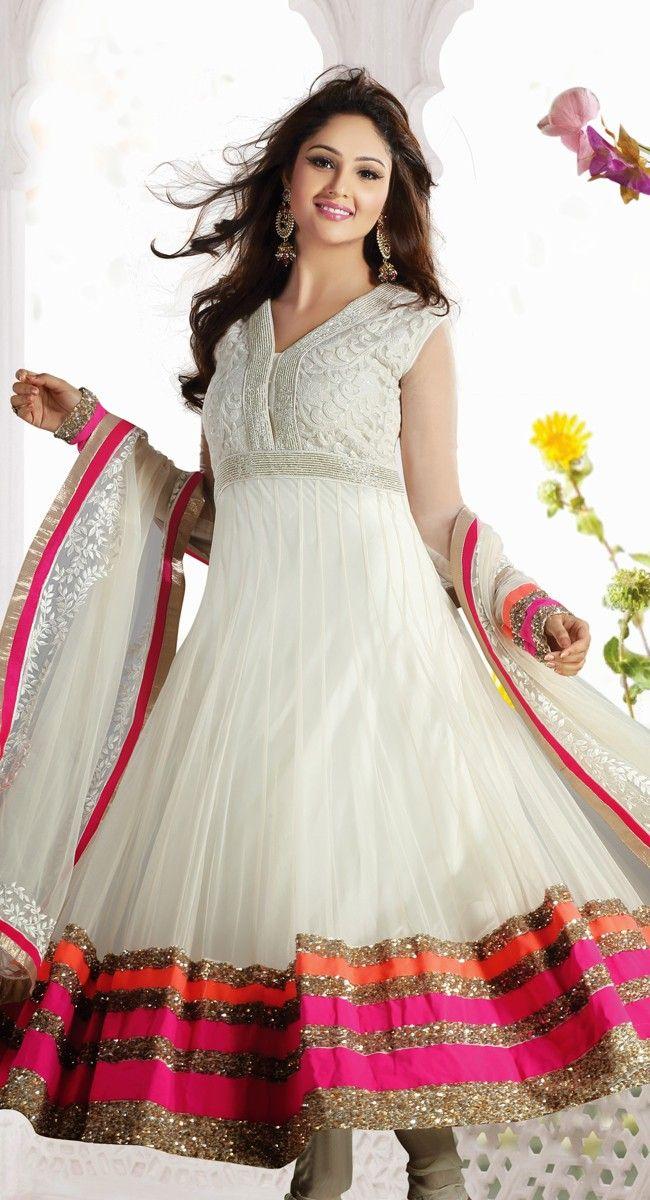 Captivating Off White Salwar Kameez $229.00