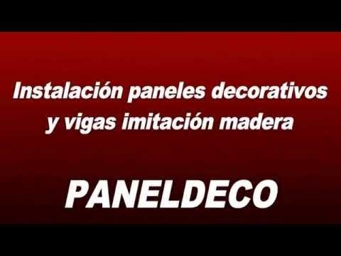 Vídeo del montaje de paneles decorativos y vigas imitación madera en una oficina – Blog PanelDECO (antes Ecodecora). Tlfno: (+34) 961 517 144