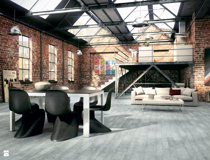 Apavisa vintage Grey - Salon - Styl Industrialny - Ceramica Promat