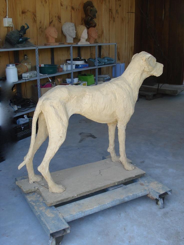 Ziggy sculpture by Rudolf Rosochacki,  back view