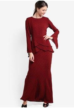 Midi Criss Cross Kurung from Zuco Fashion in red_1
