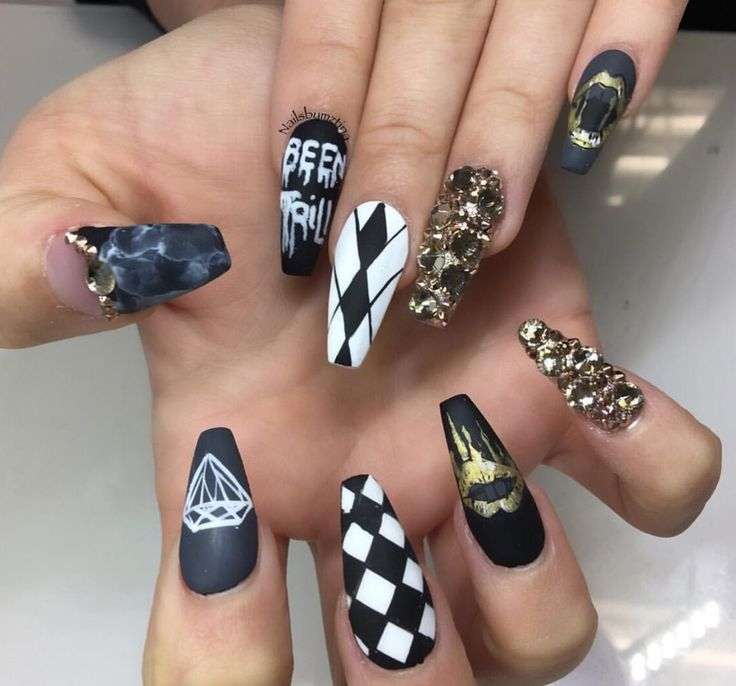 388 best images about Square & Coffin Nails on Pinterest
