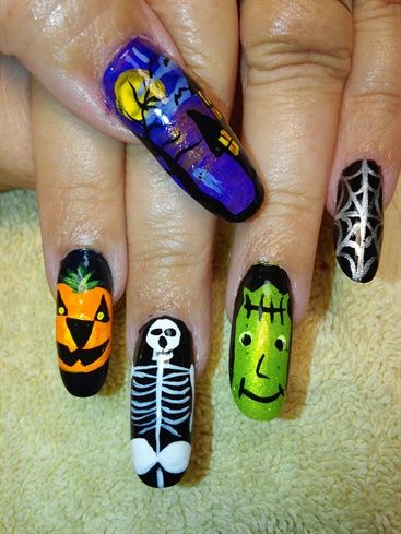 Halloween nail art design ideas #nailart