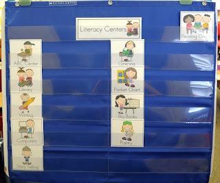 Mrs. Ricca's Kindergarten: Literacy Center Management Board {FREEBIES}