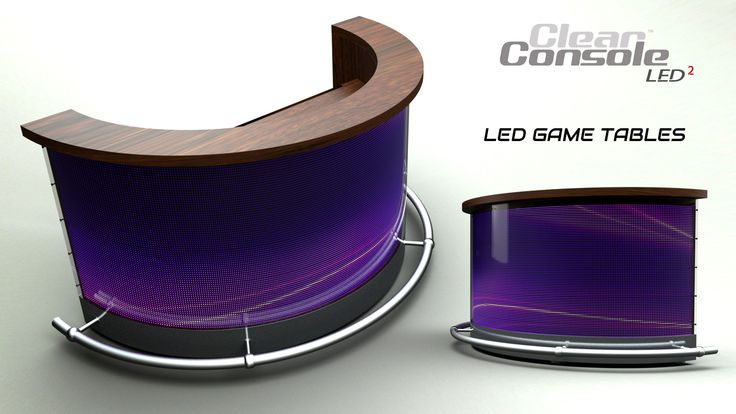 ClearConsole Pro Custom LED Gaming Tables For Casino's