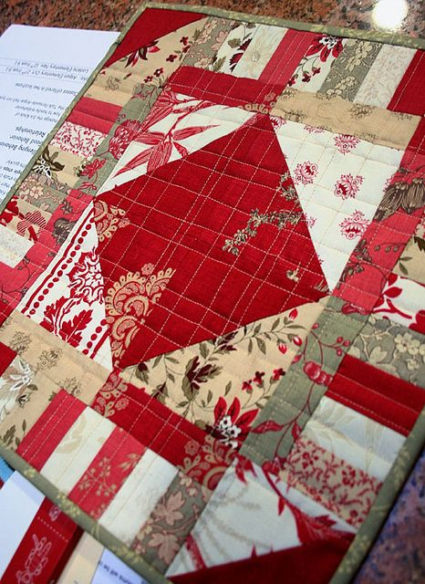 Like everything about this little quilt.