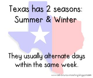 Texas Weather -- true that!  From 79 to 27 and ice locked.